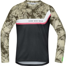 GORE Power Trail Jersey long-camouflage/black-M