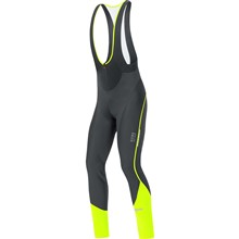 GORE Oxygen WS Soft Shell Bibtights-black/neon yellow-XXL