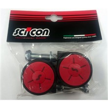 SCICON Set of 2 Multi-Wheels for AeroComfort 3.0 bike bags (black/red)