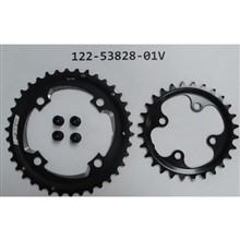 Chainwheel FSA Chainrings 38/28ST Alloy/Steel WB419-38T+WC067-24T for 10/11s w/Bolts Kit:ML462/138/