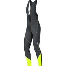 GORE Element Lady WS Soft SHell Bibtights+-black/neon yellow-36