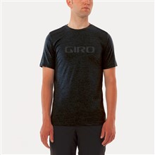 GIRO Tech T-black/dark grey logo-L