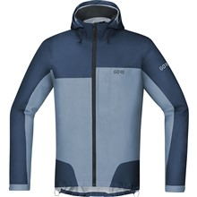 GORE C5 GTX Active Trail Hooded Jacket-deep water blue/cloudy blue-XL