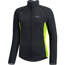 GORE C3 Women WS Phantom Zip-Off Jacket-black/neon yellow-36
