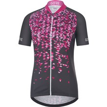 GORE C3 Women Petals Jersey-raven brown/raspberry rose-38
