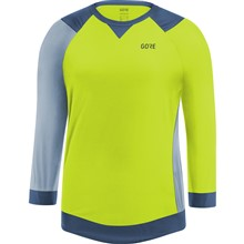 GORE C5 Women All Mountain 3/4 Jersey-citrus green/cloudy blue-34