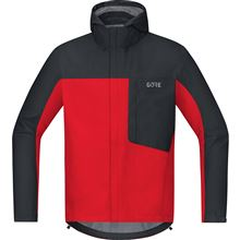 GORE C3 GTX Paclite Hooded Jacket-red/black-M