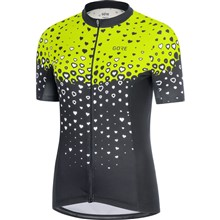 GORE C3 Women Jersey-black/citrus green-40