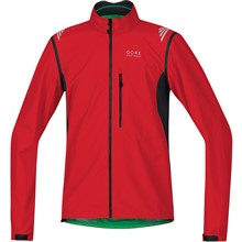 GORE Element WS Active Shell Zip-Off Jacket-red/black-L