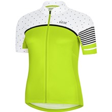 GORE C7 Women CC Jersey-citrus green/white-38