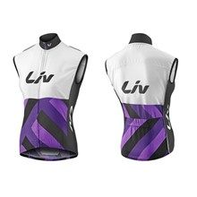 LIV Race Day Windbreaker Vest-white/purple-M