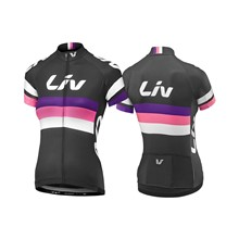 LIV Race Day SS Jersey-black/purple/hot pink-L