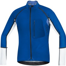 GORE Alp-X PRO WS Soft Shell Zip-Off Jersey-brilliant blue/white-XL