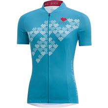 GORE Element Lady Digi Heart Jersey-scuba blue-42