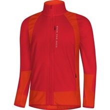 GORE Power Trail WS Insulated (Partial) Jacket-red/orange.com-L